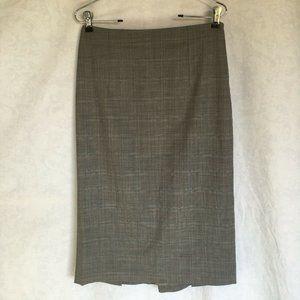 Banana Republic Brown Grey Checkered Pencil Skirt